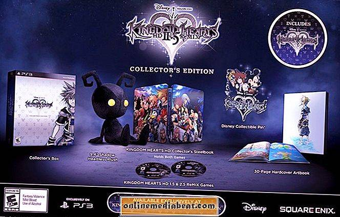 Kingdom Hearts HD 2.5 Remix Collector's Edition pakker seks spill og mer for $ 99.99